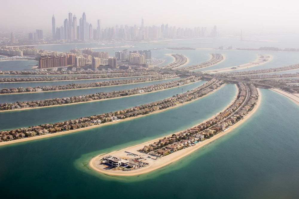 The Palm Jumeirah view,