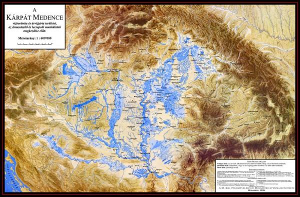 A Kárpát-medence vízboritotta és árvízjárta területei