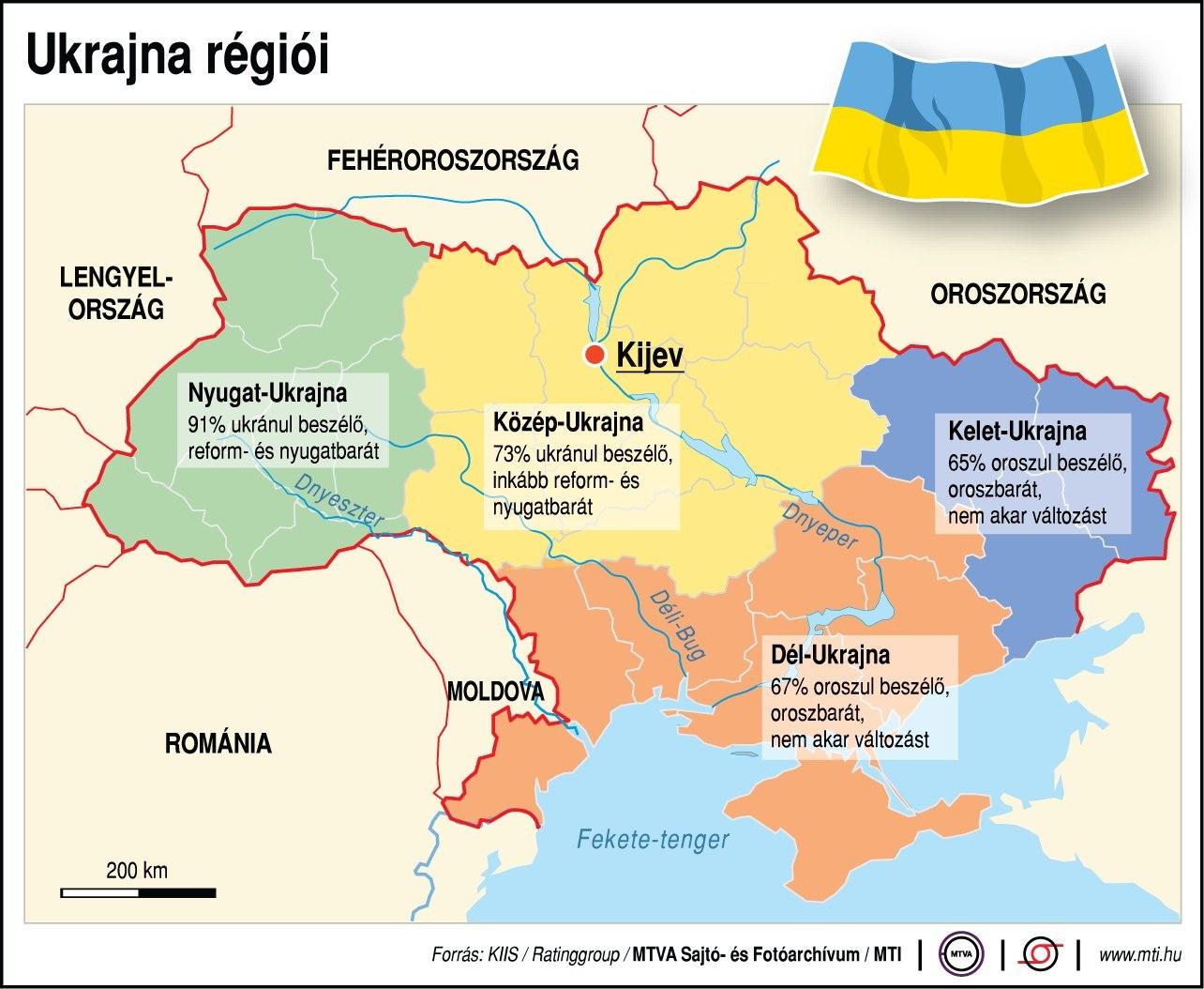 Ukrajna Regioi Foldrajz Magazin