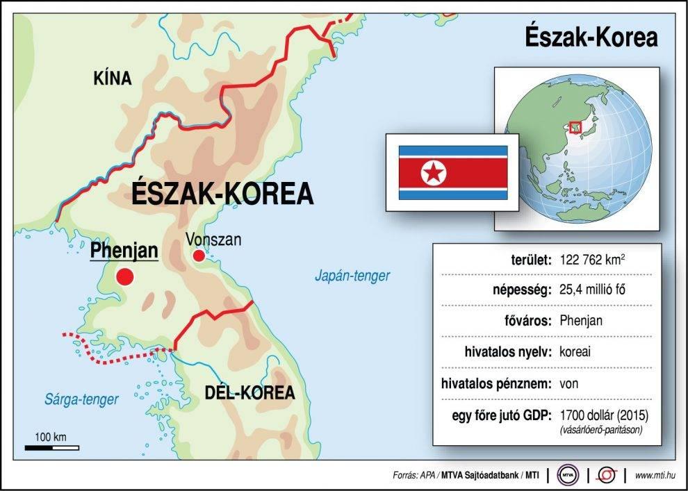 Eszak Korea Terkep Foldrajz Magazin