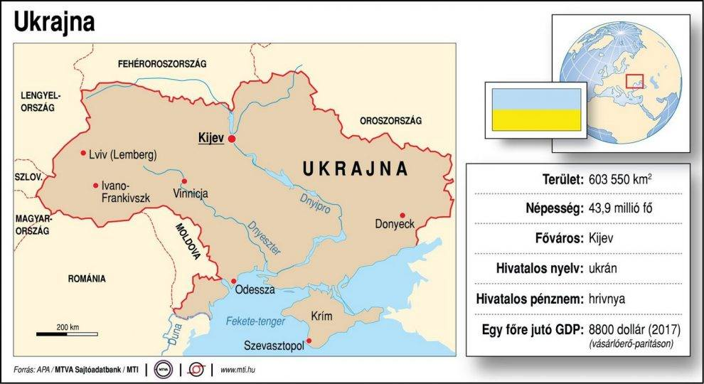Ukrajna Terkep Foldrajz Magazin