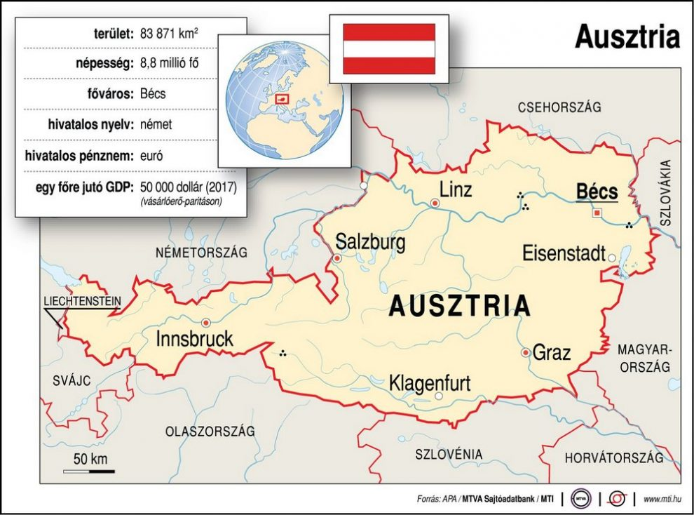 Ausztria Terkep Foldrajz Magazin