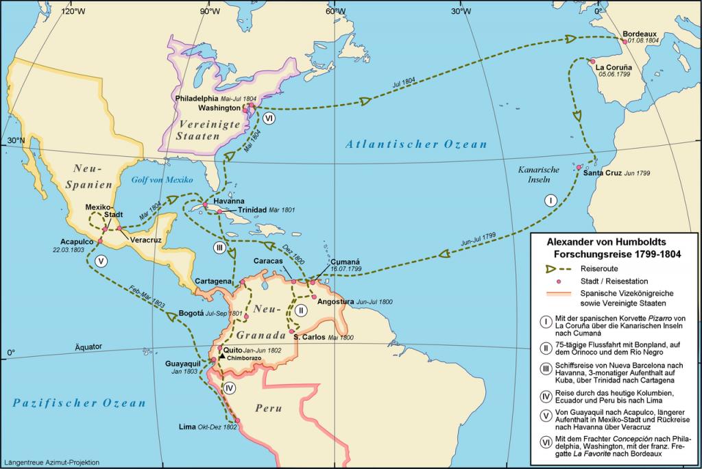 Humboldt utazásai 1799-1804 között